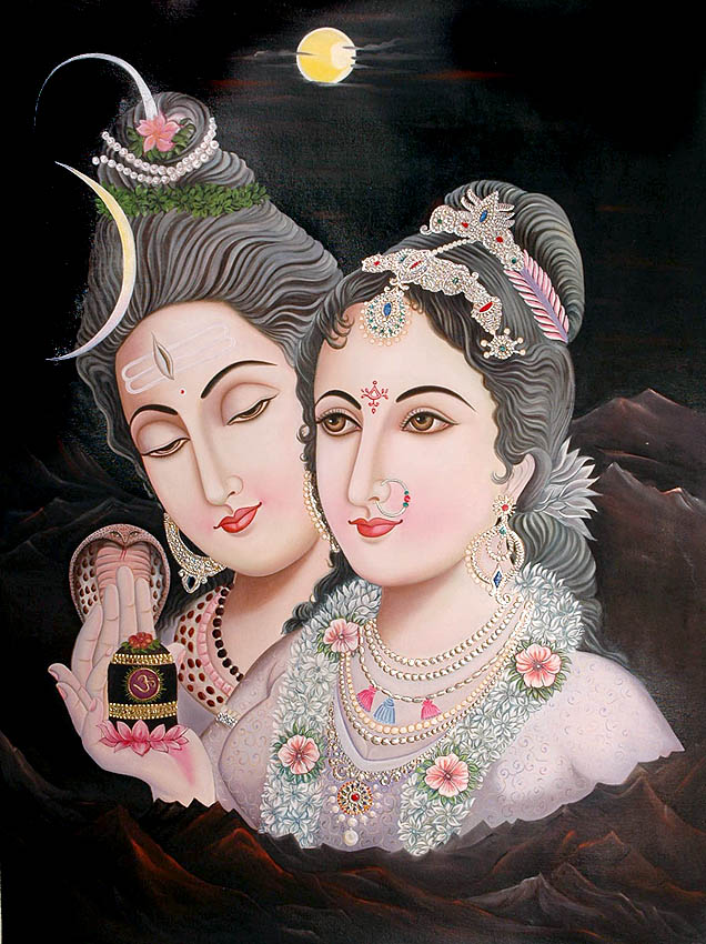 Shiva, Parvati, The Linga and Kailash