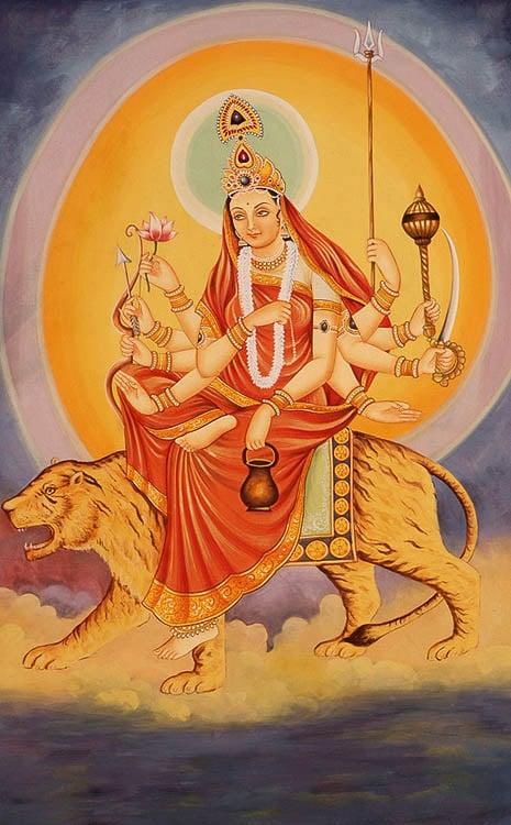 Navadurga The Nine Forms Of Goddess Durga Chandraghanta