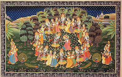 Rasa Lila of Krishna with Gopis