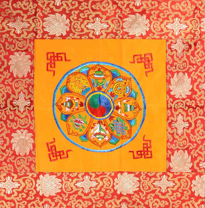 Mandala Of Ashtamangala Eight Auspicious Symbols Of Buddhism Tib