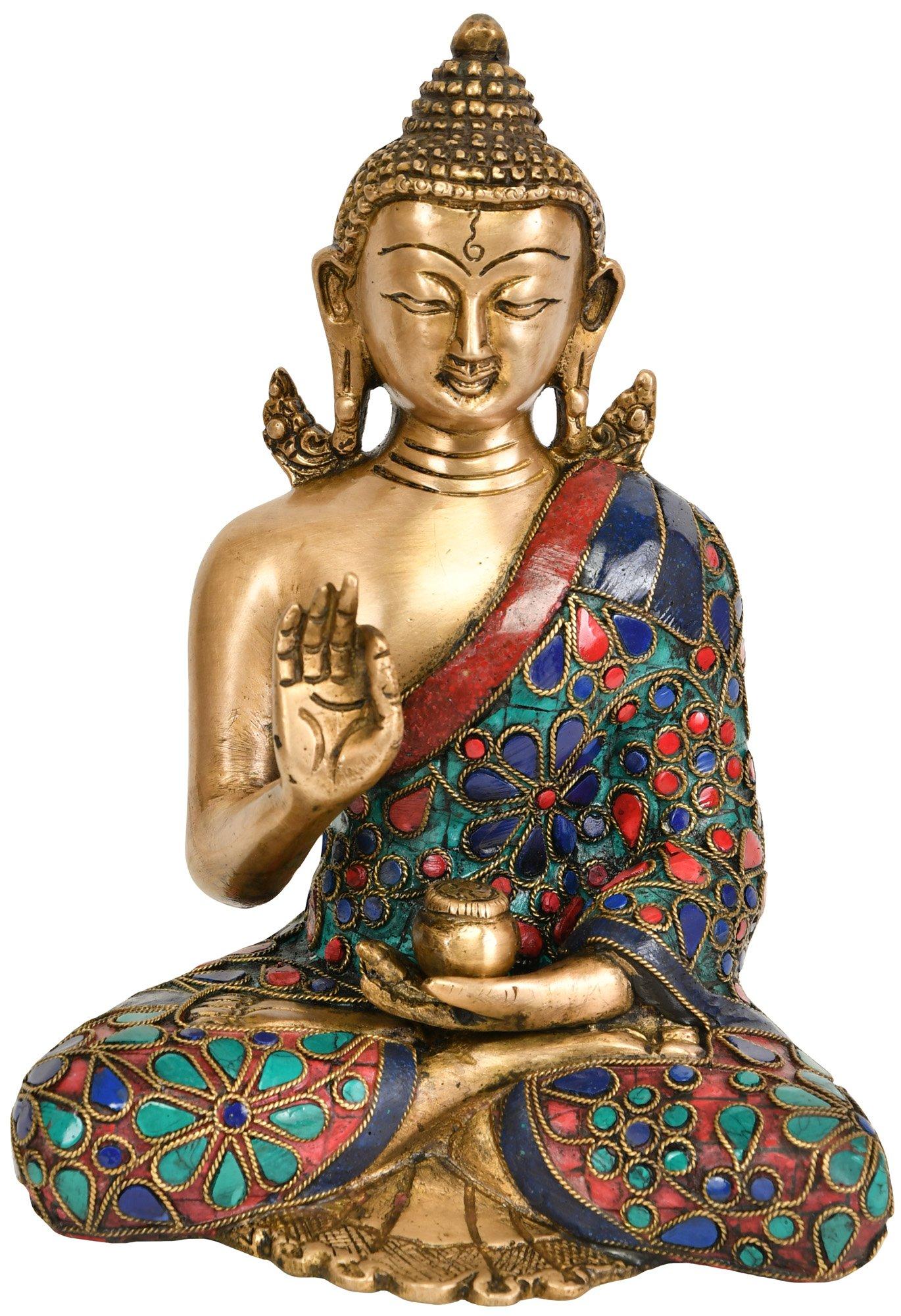 tara buddha brass turquoise
