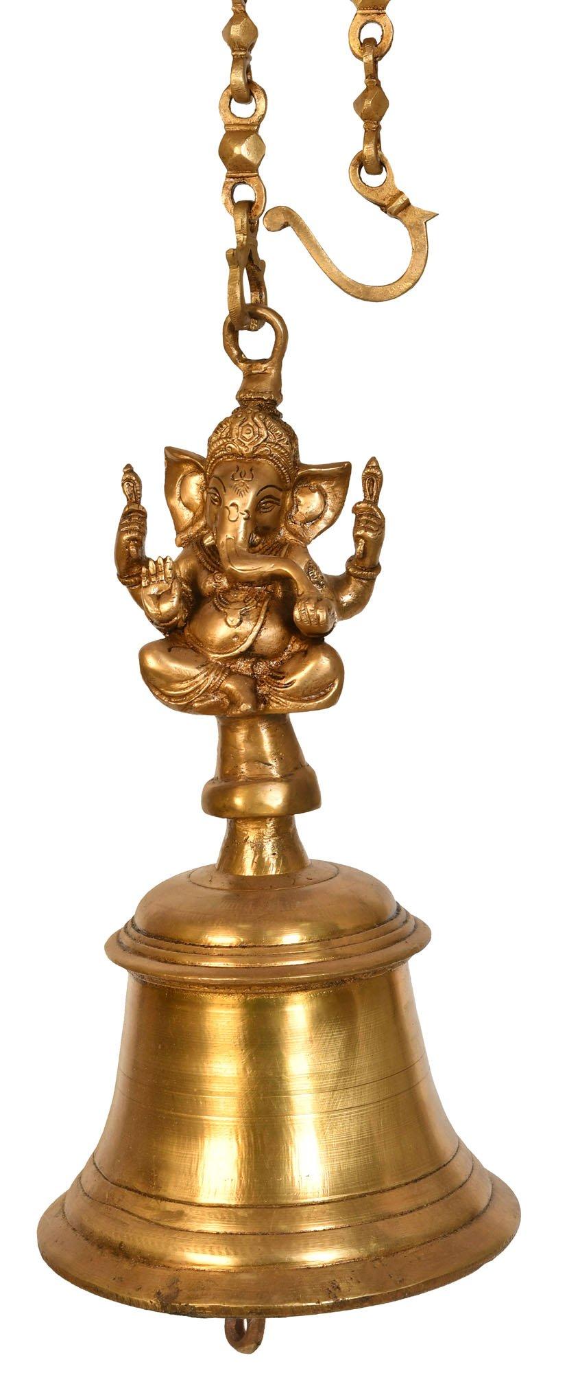Large Size Ganesha Temple Hanging Bell