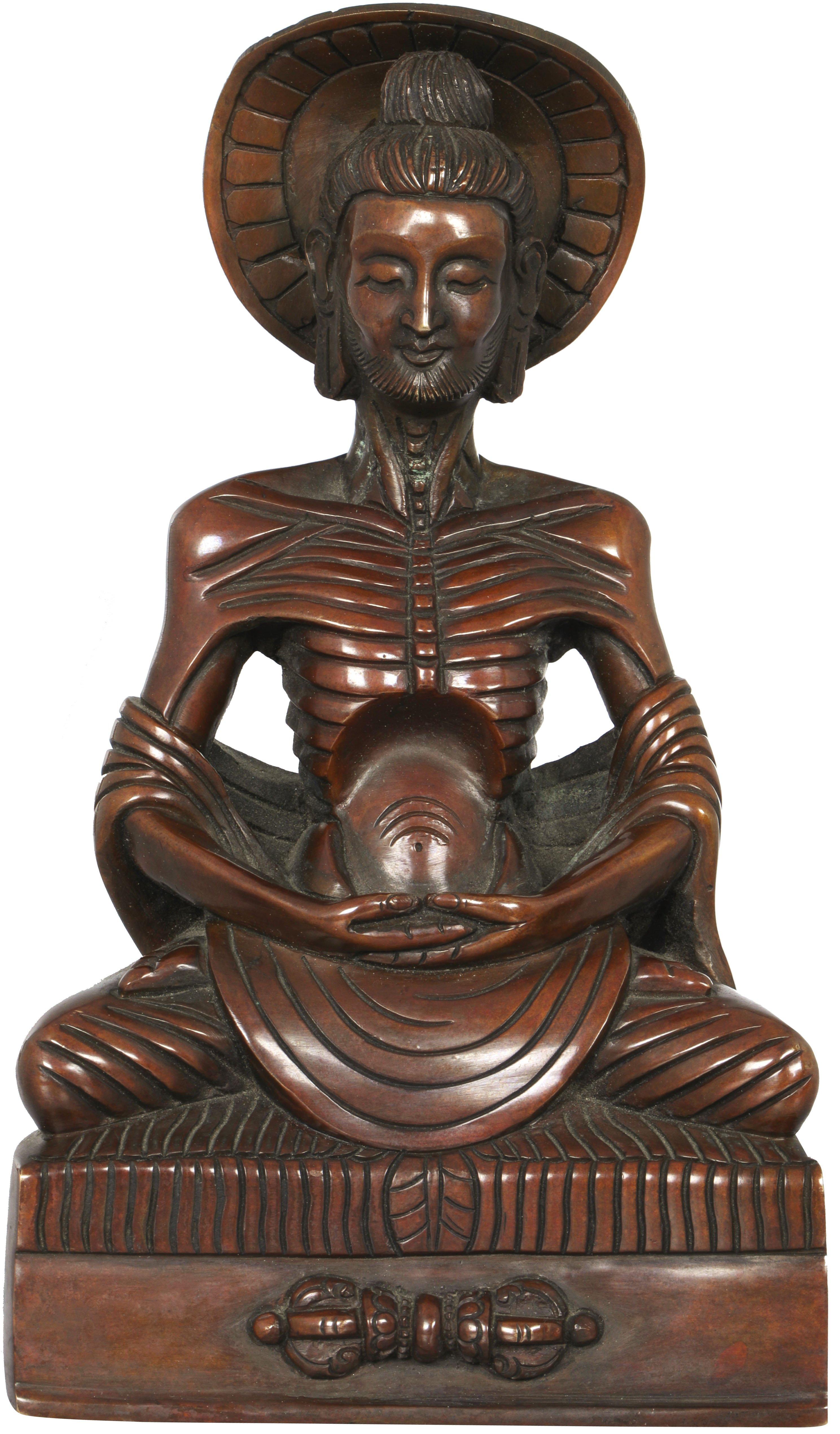 Emaciated Buddha Made In Nepal