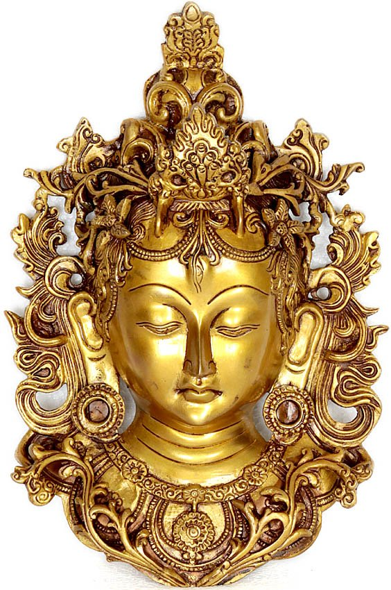 Tibetan Buddhist Deity) Wall Hanging Tara Mask