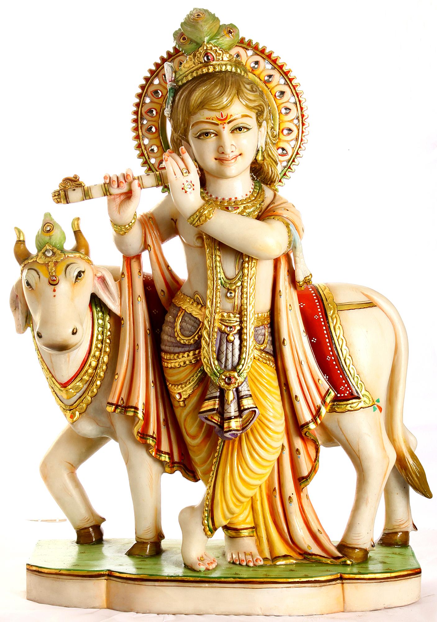Venugopala Murali Krishna With His Cow