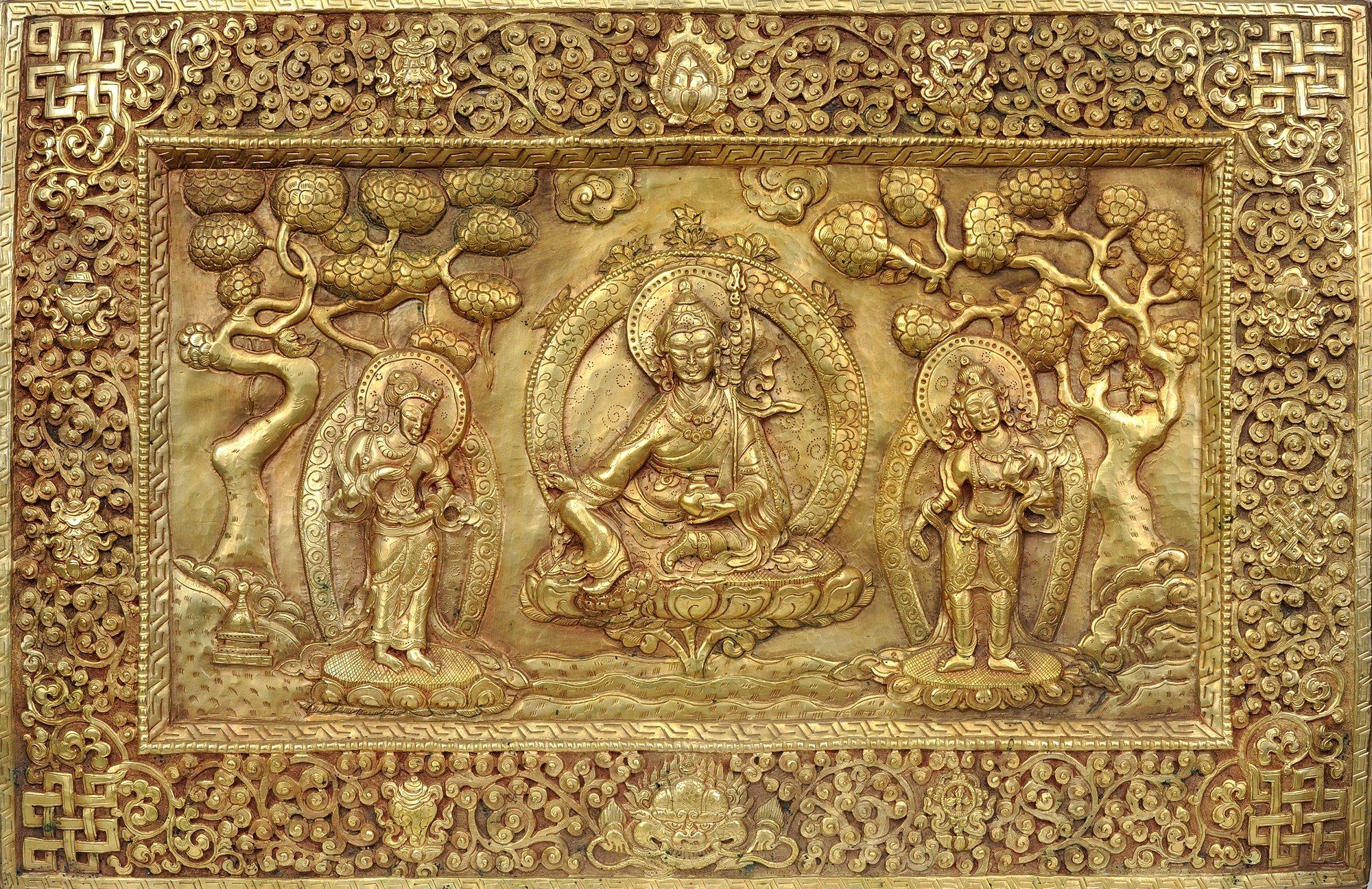 Tibetan Buddhist Deity- Guru Padmasambhava with His Disciples (Wall ...