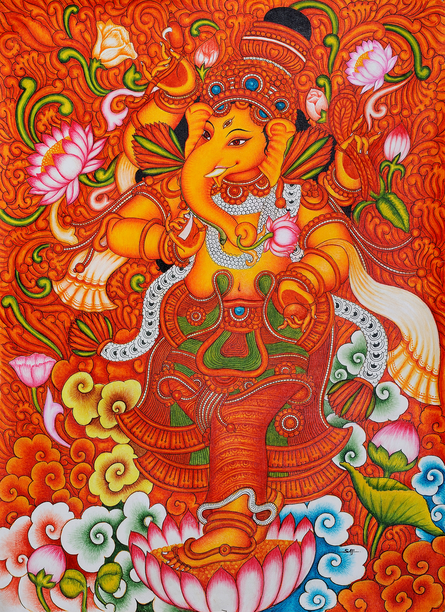 Lord ganesha for Art mural painting