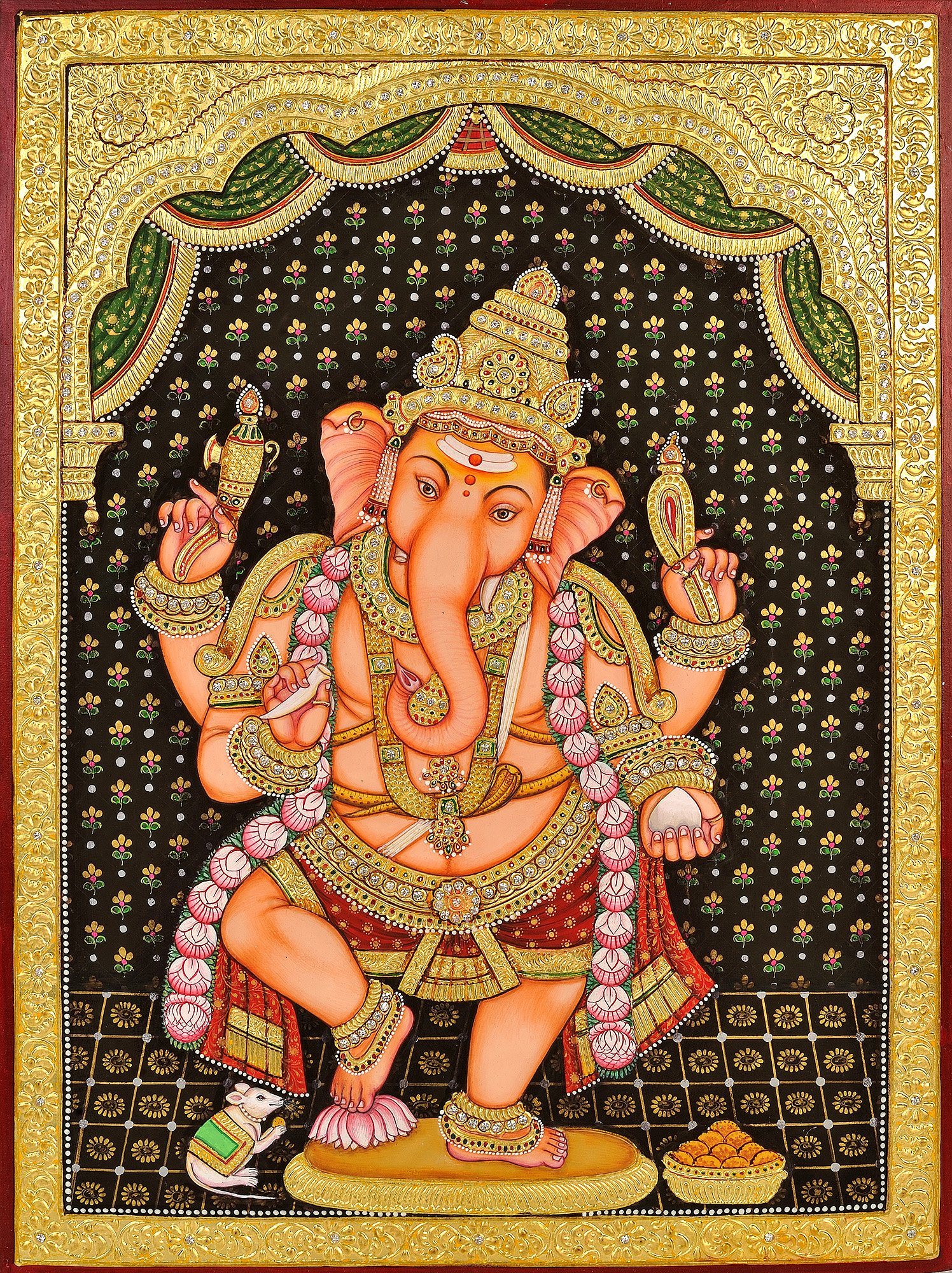 Dancing ganesha for Mural art of ganesha