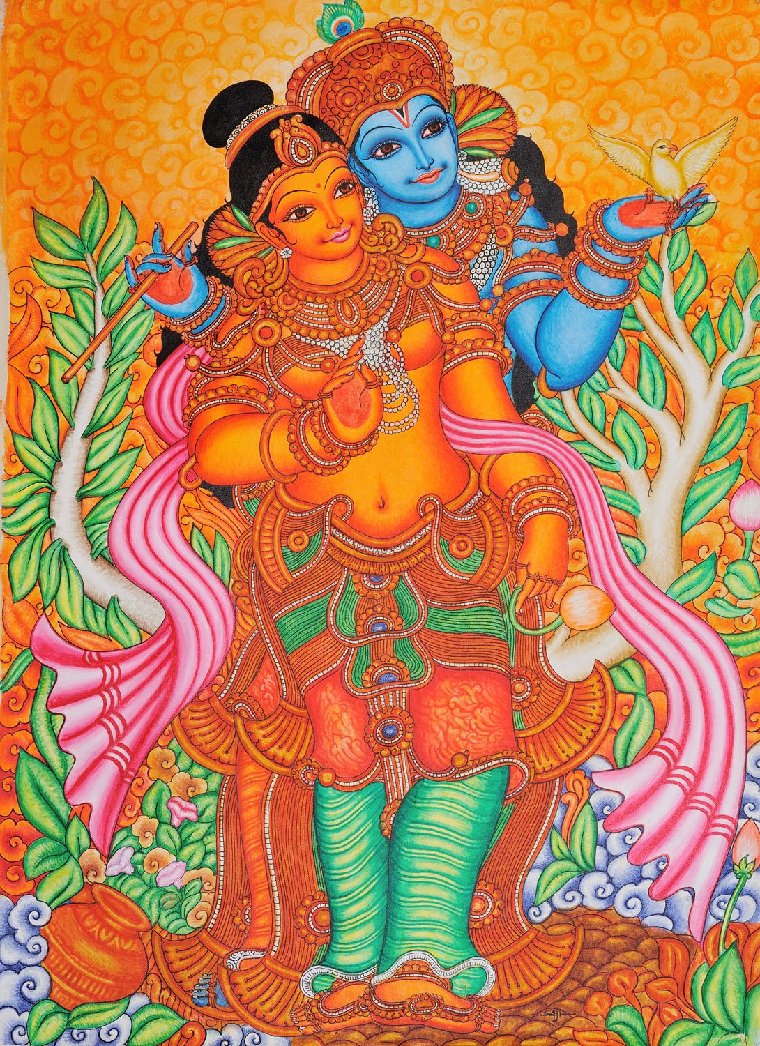 The inseparable radha krishna for Mural radha krishna