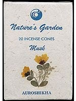 Musk - Nature's Garden Incense Cones (Pack 4 Packets)