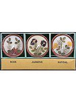 Perfumed Candles with Natural Flowers (Rose, Jasmine & Sandal) Price Per Pair