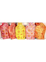 Lot of Five Densely Embroidered Handbags from Kutch with Mirrors