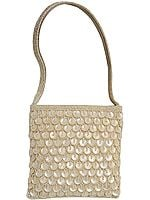 Mother of Pearl Handbag Beaded on Both Sides