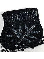Densely Beaded Floral Handbag