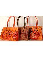 Lot of Three Radha Krishna Shantiniketan Bags