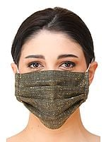 Plain Khadi Cotton Two ply Fashion Mask from Jharkhand with Cotton-Backing and Ear Loops