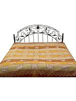 Double-Sided Pure Wool Jamawar Bedspread