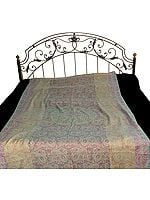 Single Bed Pure Wool Jamawar Bedspread