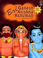 Bal Ganesh Krishna Hanuman Animated Stories (DVD Video)