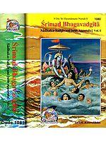Srimad Bhagavad Gita - 2 Volumes (Sadhaka-Sanjivani (With Sanskrit Text, Transliteration, English Translation and Commentary)