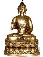 Large Size Buddha in the Abhaya Mudra
