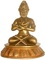 Saint Valmiki (With Shri Rama's Name Inscribed in the Open Book Before Him)