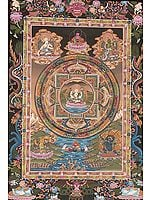Chenrezig (Four-armed Avalokiteshvara)  Mandala