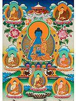 Bhaishajyaguru (Medicine Buddha) and His Seven Brothers