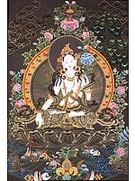 Goddess White Tara Who Blesses Long Life to Her Devotees
