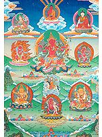 Red Tara Kurukulla with Wrathful Deities