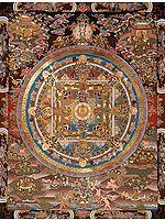 Shakyamuni Buddha Mandala with Bodhisattvas, Adepts and Wrathful Guardians
