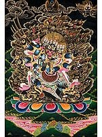 Six-Armed Winged Vajrakumara (Vajrakilaya) in Yab Yum