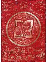 The Red Mandala of Buddha