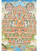 Shakyamuni Buddha and 35 Confessional Buddhas - Tibetan Buddhist (Large Size)