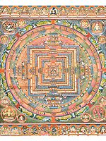 Superfine Tibetan Buddhist Mandala of Kalachakra (Museum Quality)