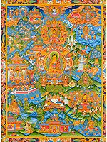 The Buddha Shakyamuni and the Events From His Life -Tibetan Buddhist
