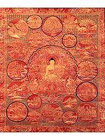 Master's Life on Canvas - Tibetan Buddhist