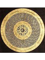 Tibetan Buddhist Mandala of Syllable Mantra