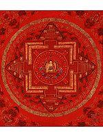 Mandala of Shakyamuni Buddha in Red Hue