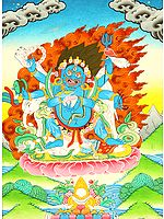 The Six-Armed (Shadbhuja) Mahakala (mGon po phyag drug pa) - A Highly Symbolic Image