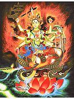 Bhagavati - The Great Goddess of Nepal (Large Size)