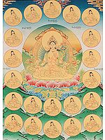 White Tara with Her Twenty One Emanations