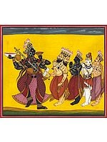 Devi Bhadrakali, Worshipped By Brahma, Vishnu, Shiva, And Indra (Tantric Devi Series)