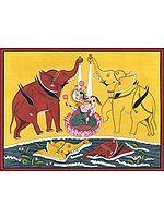 Goddess Lakshmi Bathed by Elephants