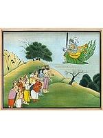 Gods Paying Obeisance to Vishnu