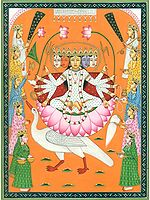 Five-Faced and Ten-Armed Gayatri