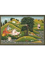 Bana Prostrating at Shiva's Feet