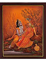 The Twilight of Love (Radha Krishna on the Banks of Yamuna)