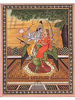 Vishnu-Lakshmi On The Shoulders Of Lord Garuda