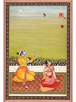 Radha Krishna Flying Kite